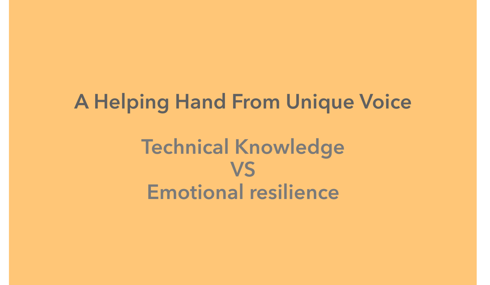 Technical Knowledge Vs Emotional Resilience