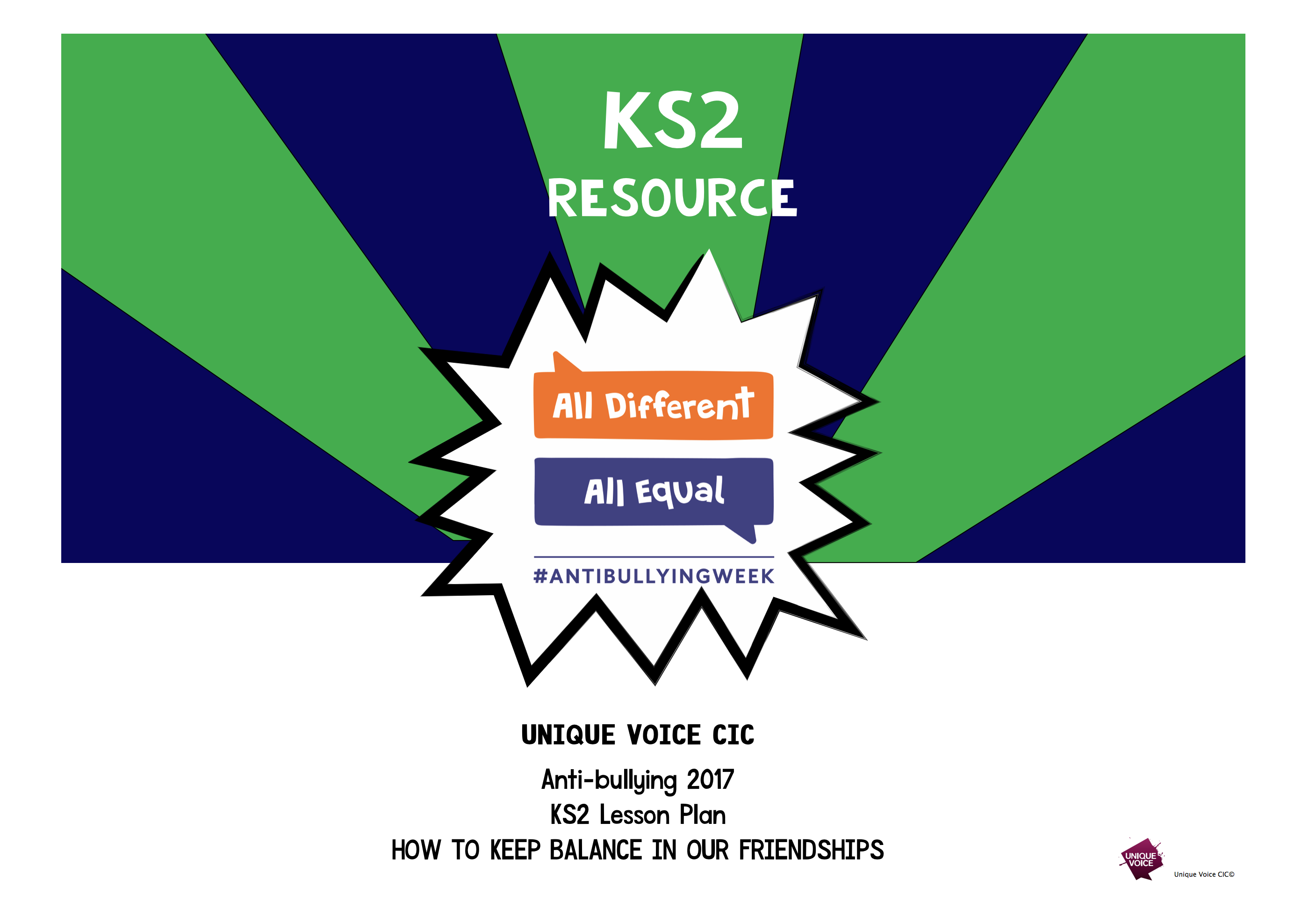 KS2 Resource - Lesson Plan: How to keep balance in our