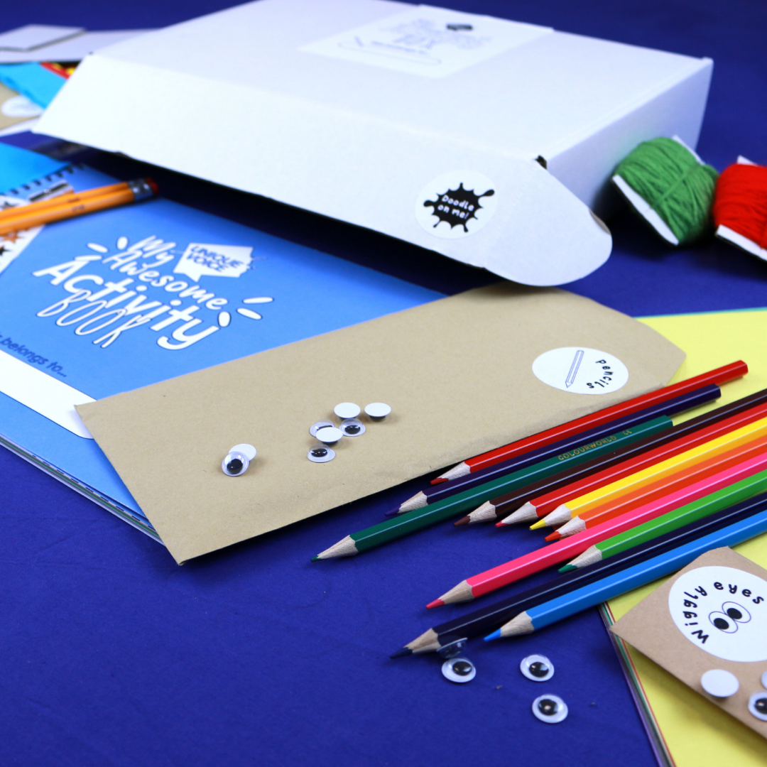 Gift Activity Book + Artbox + Tools (one pack will be donated to a vulnerable child)
